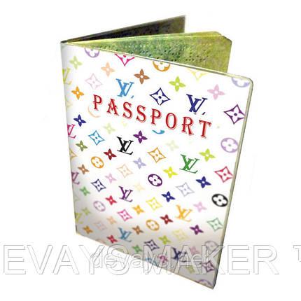 Обложка для паспорта Louis Vuitton белый, фото 2