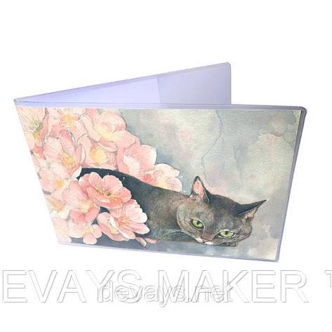 Обложка для зачётки Кошка в саду, фото 2