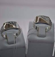 Мужская печатка серебро с золотом