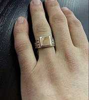 Серебряная мужская печатка без камней
