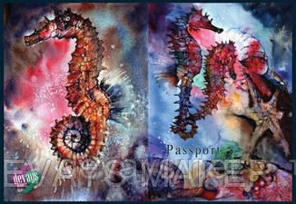 Обложка на паспорт Морские Коньки, фото 2