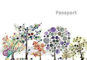 Обложка для паспорта Апрель в саду, фото 2