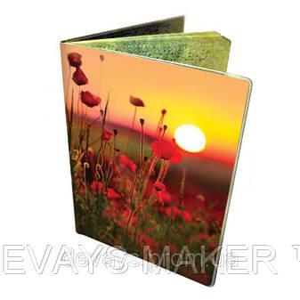 Чехол на паспорт Закат над маковым полем, фото 2