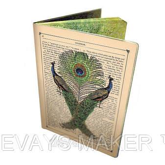 Чехол для паспорта Винтажные Павлины, фото 2