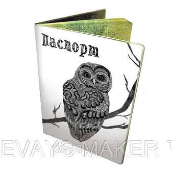 Чехол для паспорта Узорная Сова, фото 2