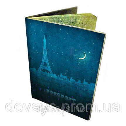 Обкладинка на паспорт Ночь в Париже, фото 2