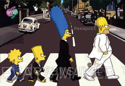 Обложка для паспорта Симпсоны любят Битлз, фото 2