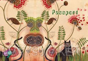 Обложка для паспорта Кот в саду, фото 2