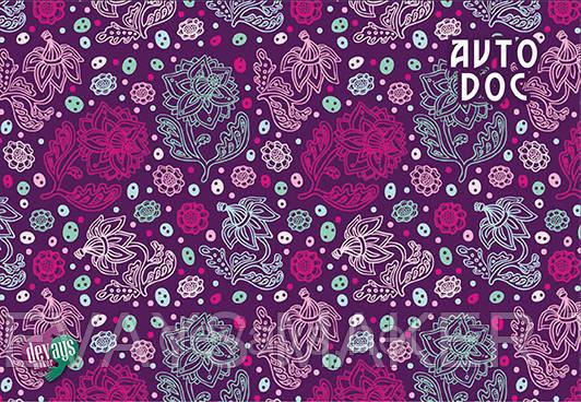 Обложка для автодокументов  Сереневые цветы, фото 2