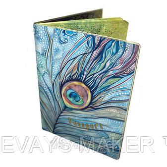 Обложка на паспорт Павлинье перо, фото 2