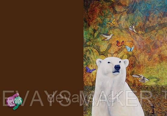 Обкладинка на паспорт Білий Ведмідь, фото 2