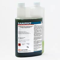 Универсальное безопасное жидкое щелочное дезинфекционное средство Санифект 1 л. (Baltiachemi)