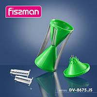 8675 Fissman Спіральна овочерізка для декорування страв 17x9 см з 4 змінними лезами (нерж. сталь в пластик