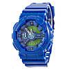 Мужские (женские) спортивные наручные часы Casio G-Shock ga-110 синий+зеленый - AAA копия, полный комплект