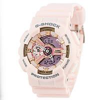 Мужские (женские) спортивные наручные часы Casio G-Shock ga-110 розовый+золотой - AAA копия, полный комплект, фото 1