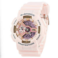 Мужские (женские) спортивные наручные часы Casio G-Shock ga-110 розовый+золотой - AAA копия, полный комплект