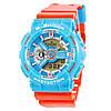 Мужские (женские) спортивные наручные часы Casio G-Shock ga-110 голубой+красный - AAA копия, полный комплект