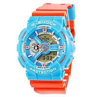 Мужские (женские) спортивные наручные часы Casio G-Shock ga-110 голубой+красный - AAA копия, полный комплект, фото 1