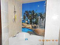"""Скинали - Фотоплитка в ванную """"Пальмы"""", фото 1"""