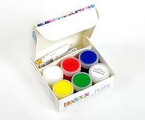 Набор красок по ткани DECOLA 5 цветов, 2 контура, 1 разбавитель, ЗХК Невская Палитра, 4141177