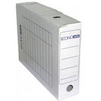 Короб архивный, картонный, 331*253*80 мм, белый, Economix, 32701