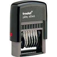 Нумератор, 4 мм, пластиковый, 6-разрядный, TRODAT, printy 4846, 739951