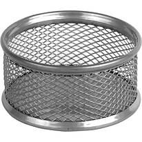 Подставка для скрепок, металлическая, серебро, 80*80*40 мм, Axent, 211303
