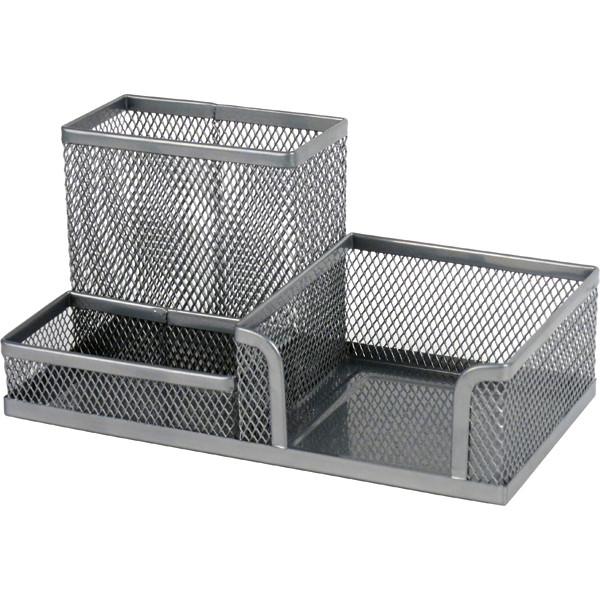 Подставка-органайзер, металлическая, серебро, 203*105*100 мм, Axent, 211603