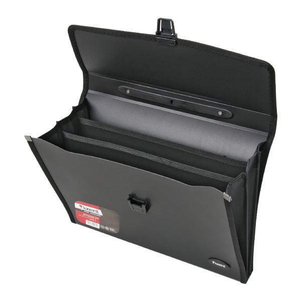 Портфель А4, 3 отделения, черный, Axent, 1601-01-A, 02498