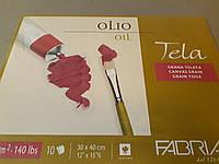 Склейка А3, 30*40 см, 10 листов, 300 г/м2, холст, Tella, Fabriano, 165402