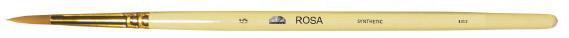 Кисть синтетика № 5, кругла, довга ручка, ROSA 1312, 9408105