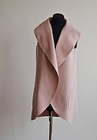 Женская жилетка, бежевое пальто без рукавов