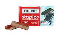 Скобы медные для степлера №10, Optima, 40353