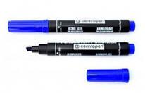 Маркер перманентний Centropen 8576 синій кліноподібний, 01851