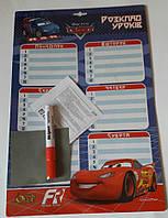 """Доска-расписание, 285*415 мм, ламинированный картон, """"Cars"""", Olli, OL-2401DC, 440573"""