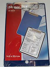 Планшет А5 пластиковый, с клипсой, синий, Skiper, SK 905-4, 410703