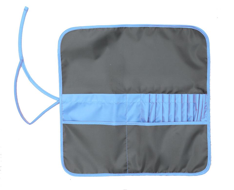 Пенал для кисточек, 37*37 см, асфальт/синий, ROSA Studio, 231103