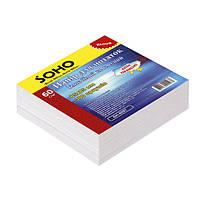 Блок бумаги для записей белый не клееный, 85*85мм, 300 листов, SOHO, SH-1211, 140196
