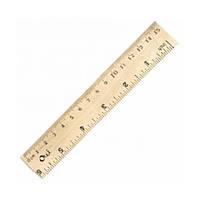 Линейка 15 см, деревянная, Olli, OL-5015, 205288