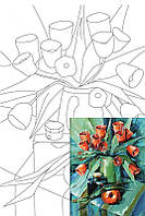 Холст на картоне с контуром, Навроцкая А., 30*40 см, хлопок, акрил, ROSA Talent, 284301
