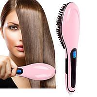 Расческа выпрямитель fast hair 906 с LED дисплеем, расческа электронные выпрямитель