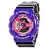 Мужские (женские) спортивные наручные часы Casio G-Shock ga-110 фиолетовый+черный - AAA копия, полный комплект