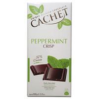 Шоколад Cachet (Кашет) черный 57% какао с мятой хрустящий Бельгия 100г
