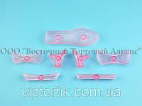 Выемка пластиковая прозрачная - Туфелька - 7 деталей, фото 1