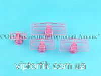 Выемка пластиковая прозрачная - Бант - 4 детали