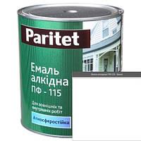 Краска эмали ТМ Paritet алкидная ПФ-115 0,9 кг белая