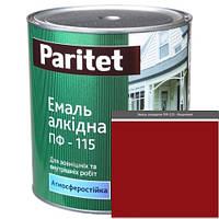 Краска эмали ТМ Paritet алкидная ПФ-115 0,9 кг вишневая