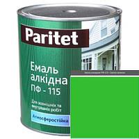 Краска эмали ТМ Paritet алкидная ПФ-115 0,9 кг светло-зеленая