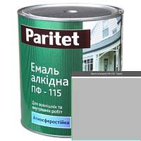 Краска эмали ТМ Paritet алкидная ПФ-115 0,9 кг серая
