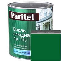 Краска эмали ТМ Paritet алкидная ПФ-115 0,9 кг темно-зелена